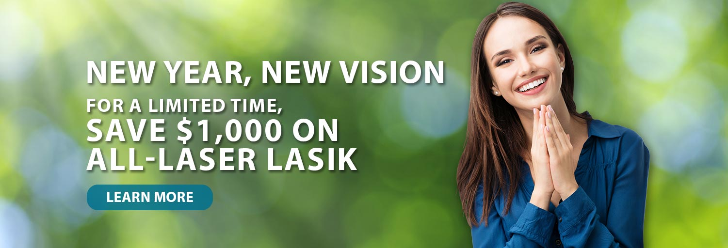 New Year LASIK Promotion Banner $1000 off LASIK in Long Beach